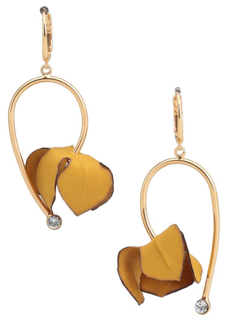 Marni Earrings With Flowers - YELLOW