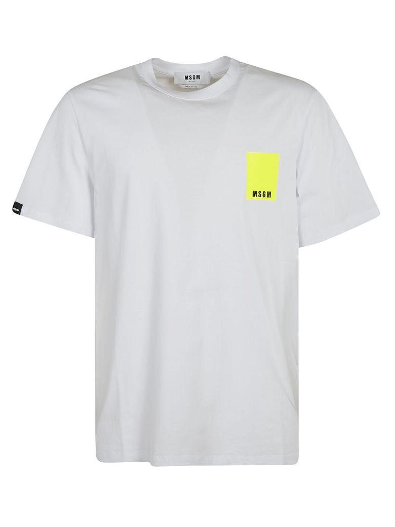 MSGM Classic Logo T-shirt - white