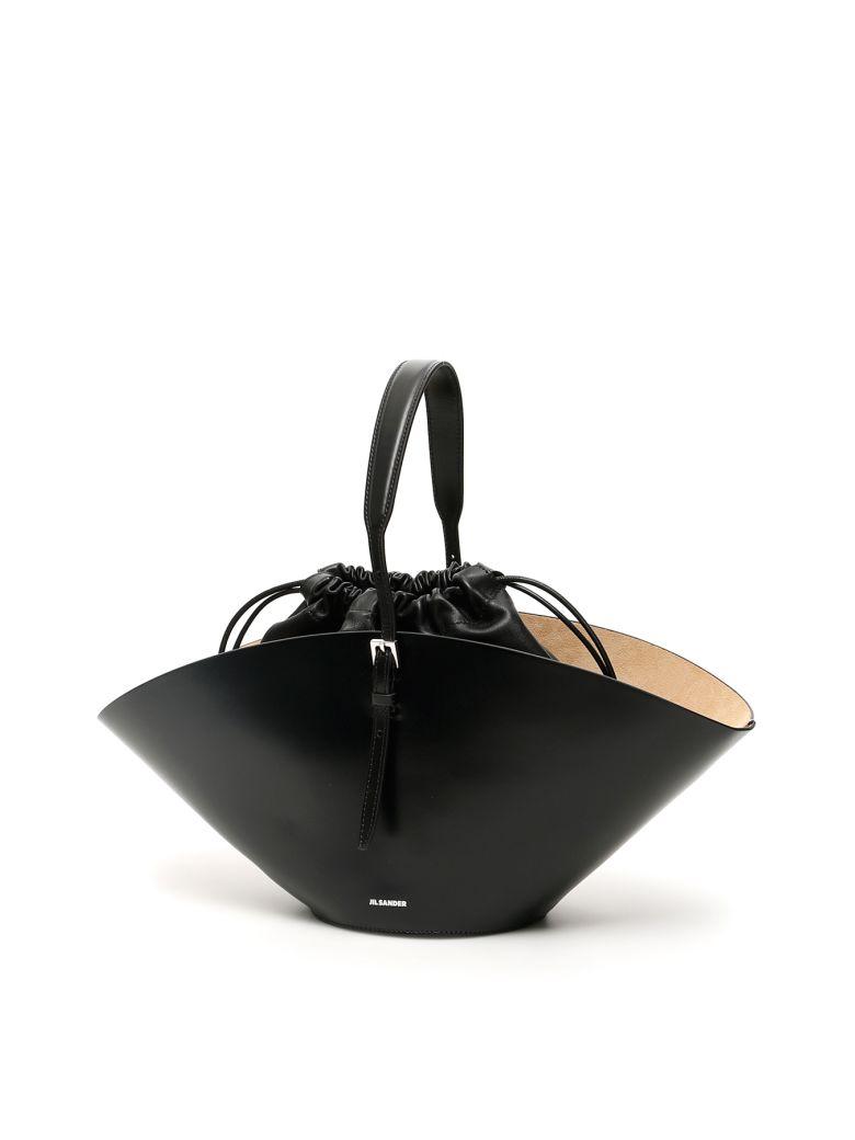 Jil Sander Small Sombrero Bag - BLACK (Black)