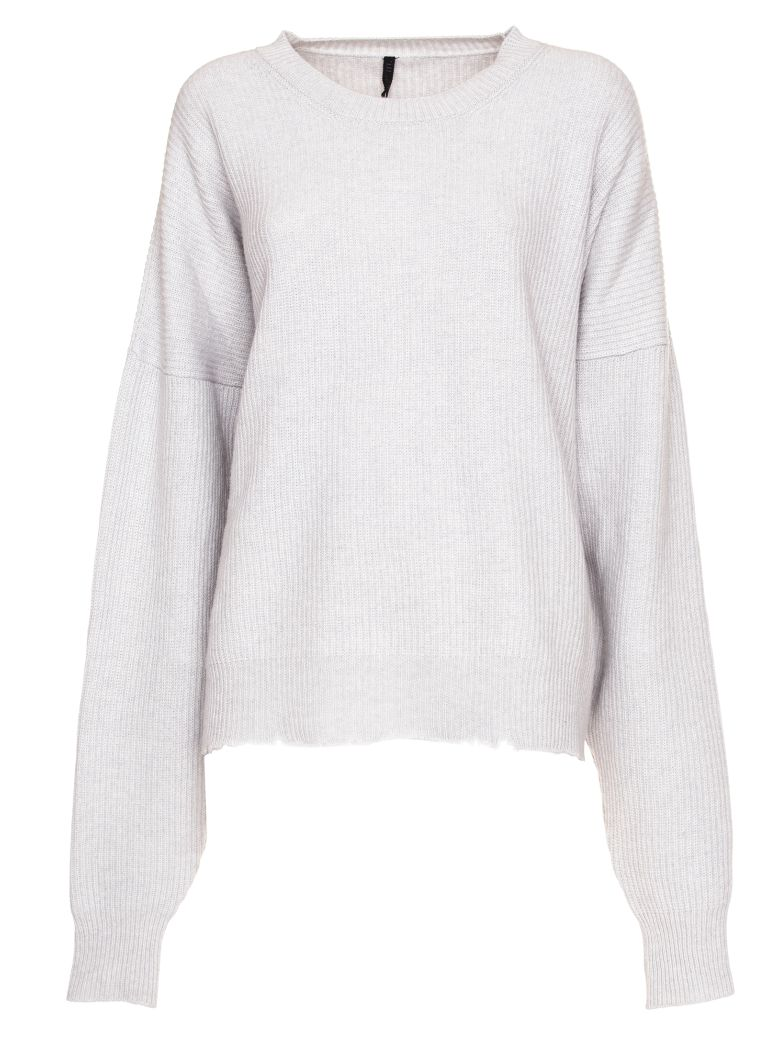 Ben Taverniti Unravel Project Unravel Project Long Sleeve Wool Blend Sweater - GRIGIO