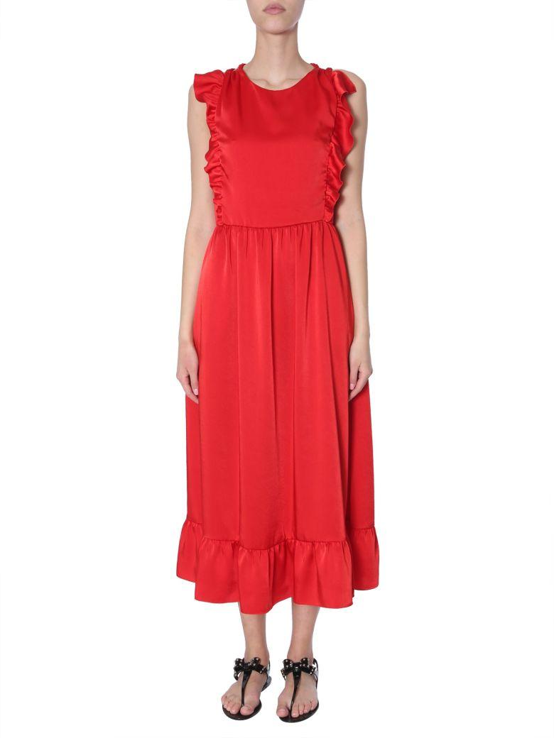 RED Valentino Stretch Compact Poplin Dress - ROSSO