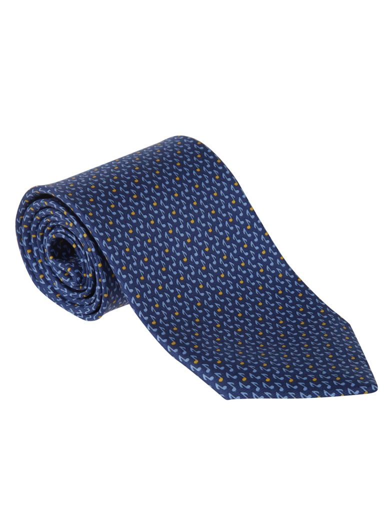 Salvatore Ferragamo Patterned Tie - Blue/yellow