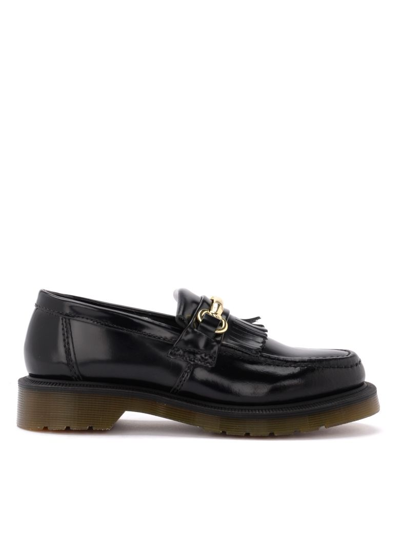 Dr. Martens Adrian Moccasin In Black Leather With Clamp - NERO