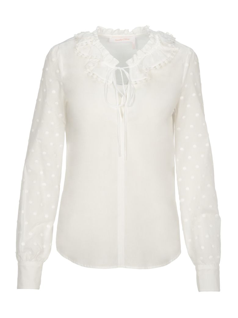 See by Chloé See By Chloe' Shirt Pois - White