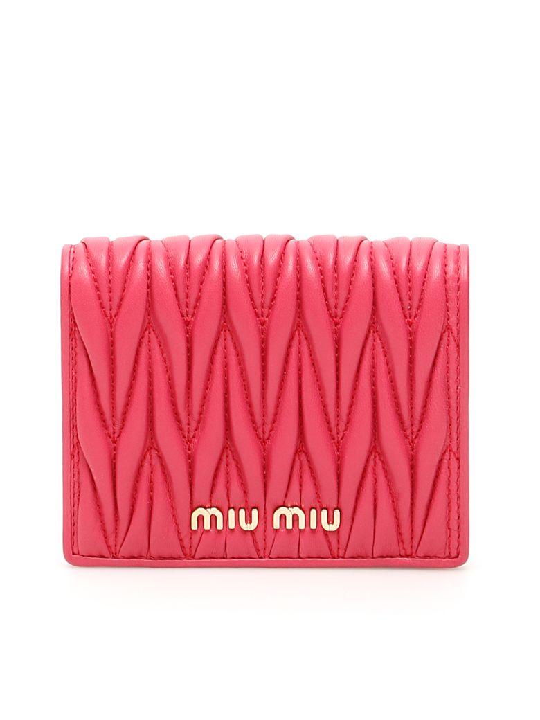 Miu Miu Matelasse Wallet - MAGENTA (Fuchsia)