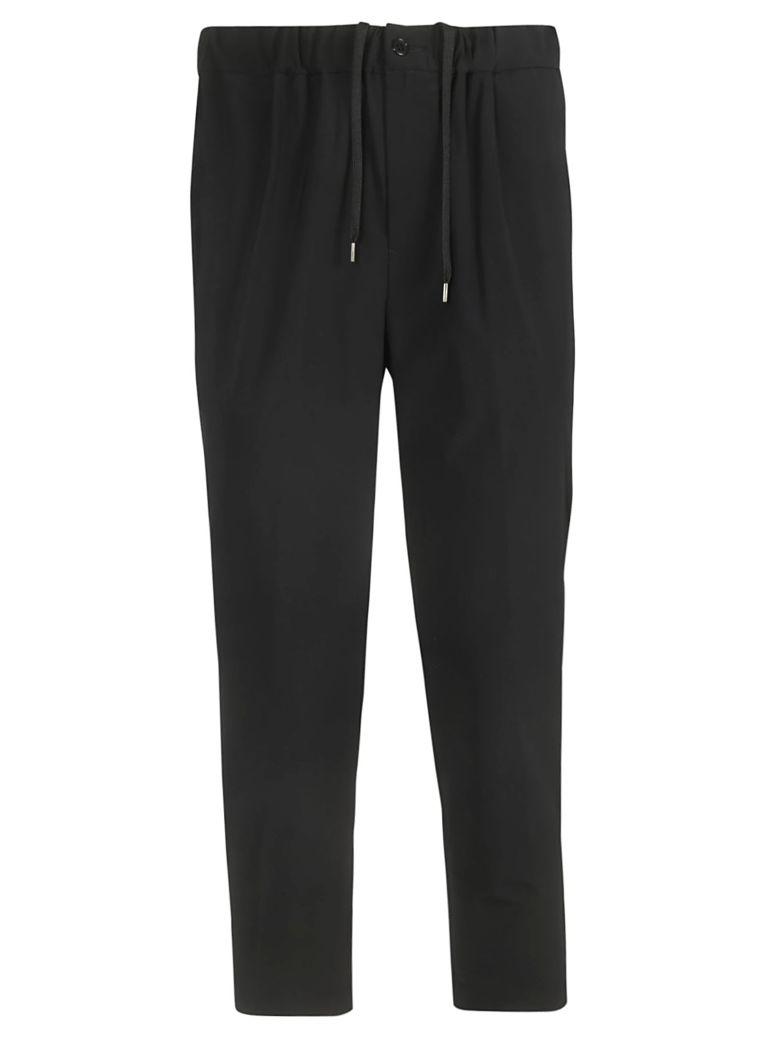 Zucca Drawstring Trousers - Black