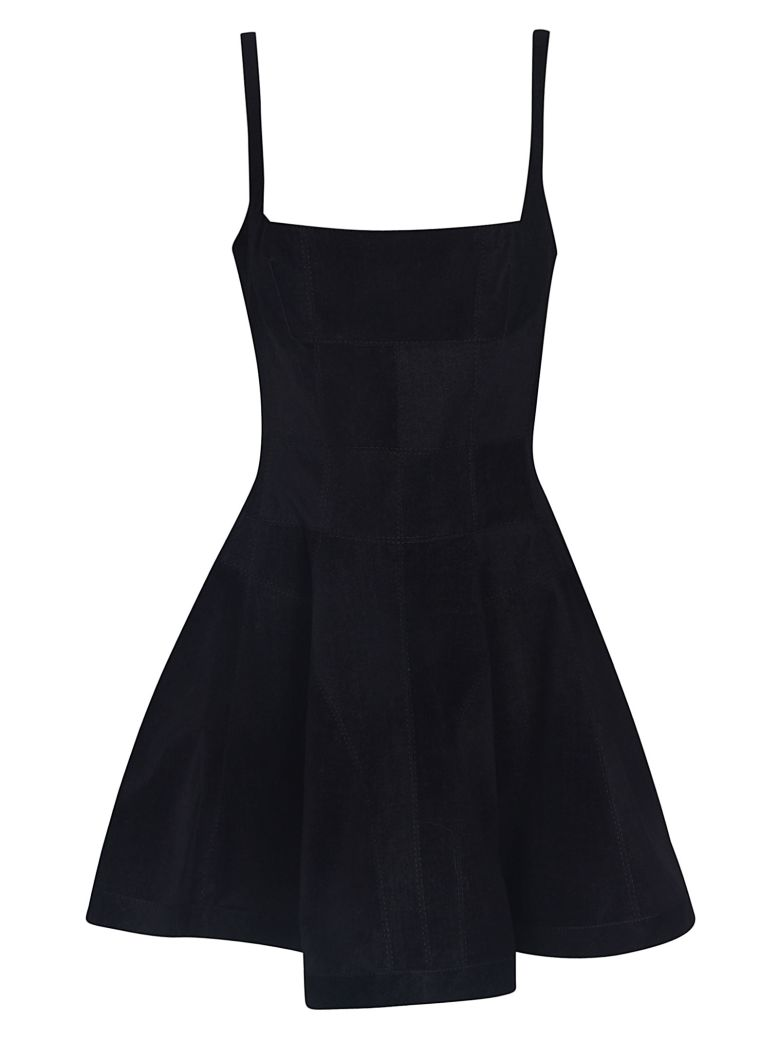Giovanni Bedin Wide Short Dress - Black
