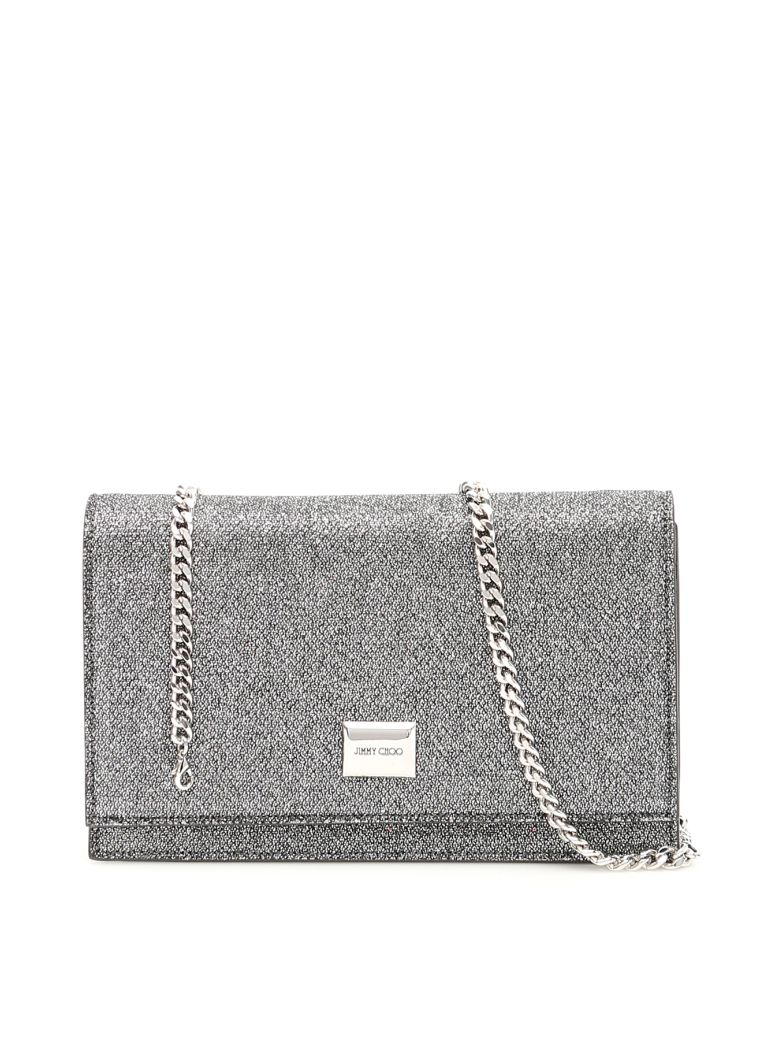 Jimmy Choo Glitter Lizzie Clutch - ANTHRACITE (Grey)