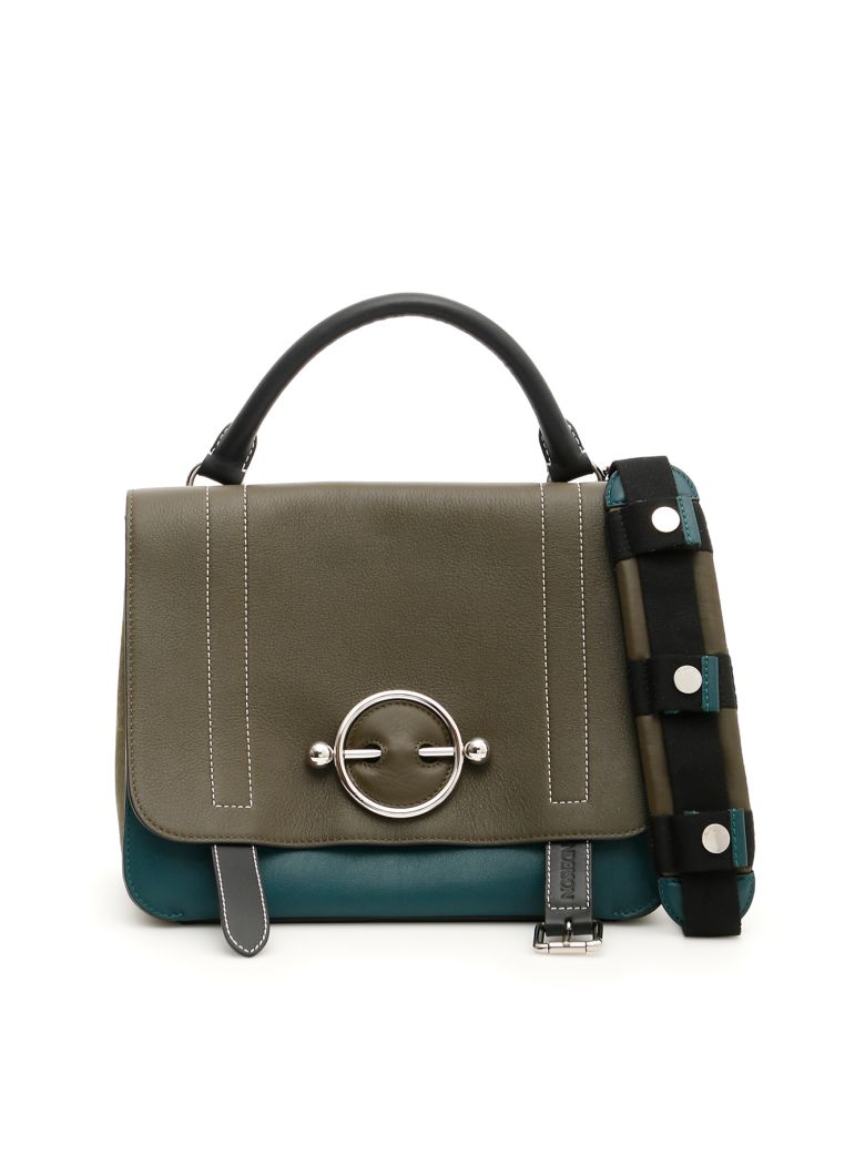 J.W. Anderson Tricolor Disc Satchel Bag - KHAKI (Black)