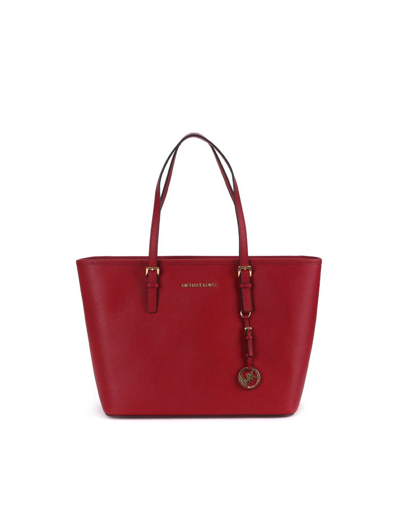c665e98b0ee5 Michael Kors Michael Kors Jet Set Travel Tote Bag - Red - 10717027 ...