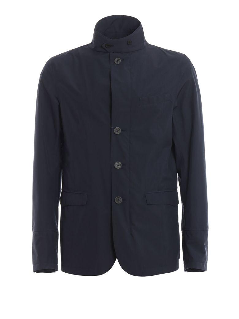 Saint Laurent Leather Panel Blazer - Black