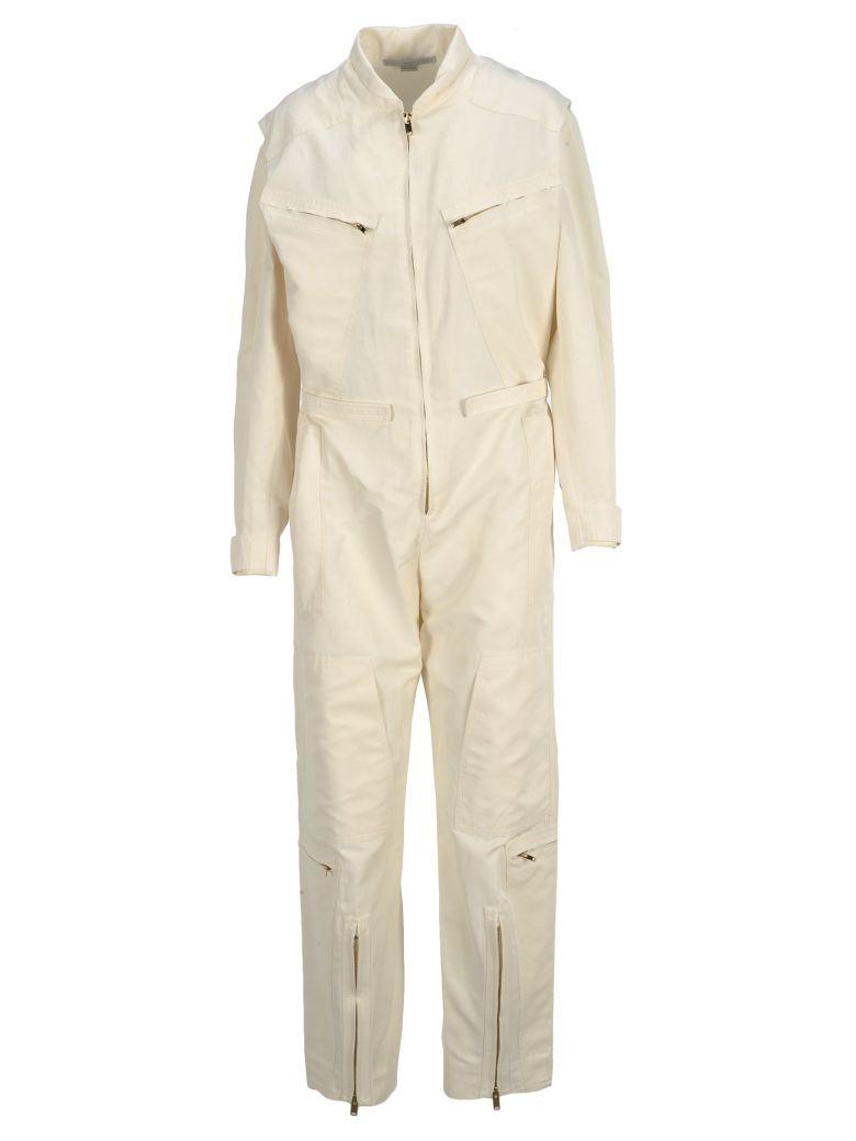 Stella McCartney Stella Mccartney Zip Jumpsuit - CREAM WHITE