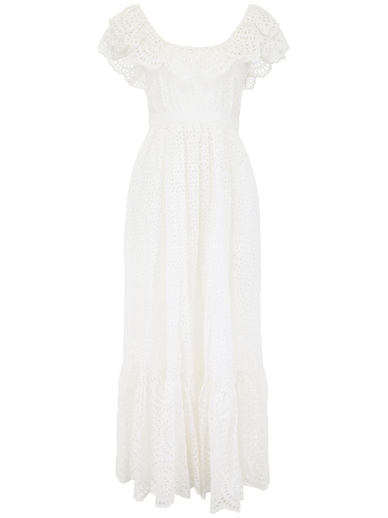 Ulla Johnson Sangallo Lace Desiree Dress - BLANC (White)