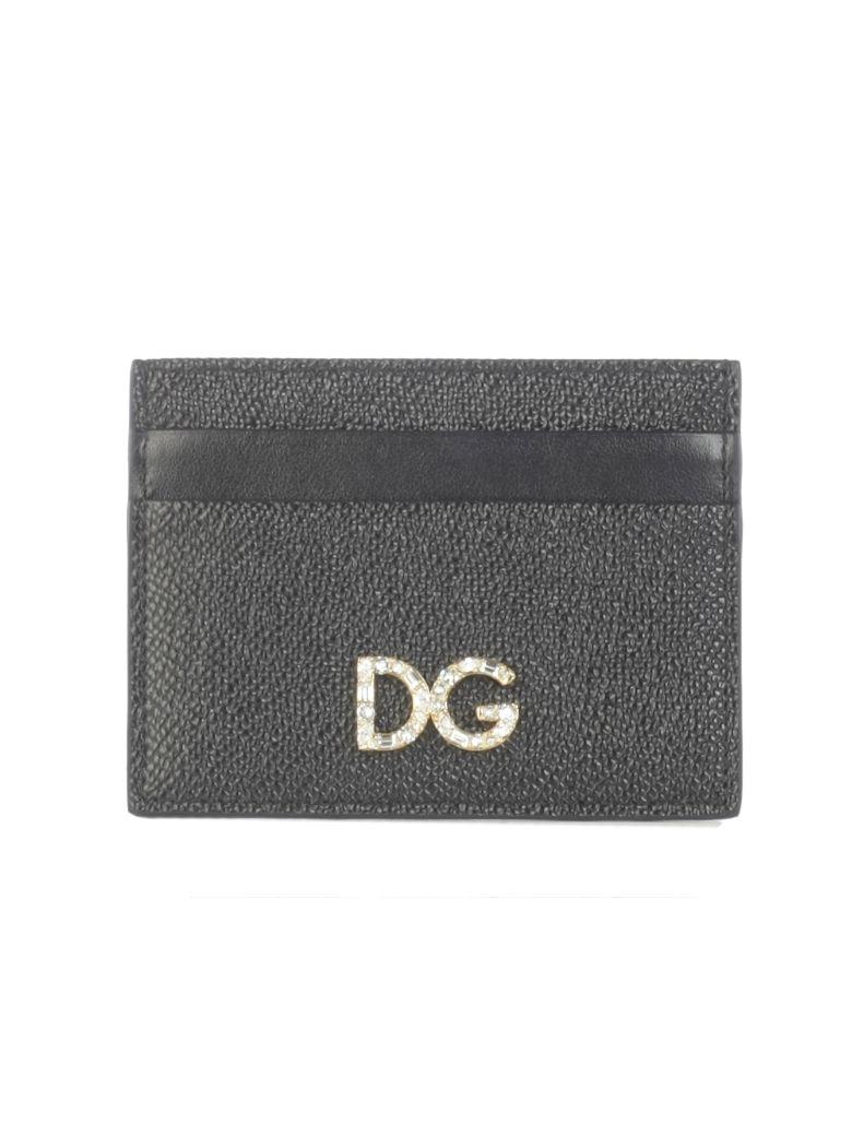 Dolce & Gabbana Logo Plaque Card Holder - Black
