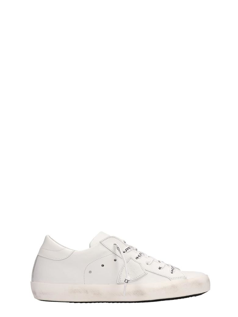 Philippe Model White Leather Paris Sneakers - White