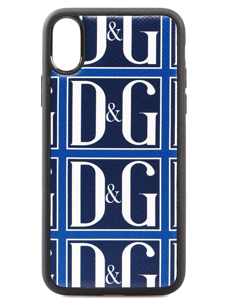 Dolce & Gabbana Logo Iphone X Cover - Blue Print
