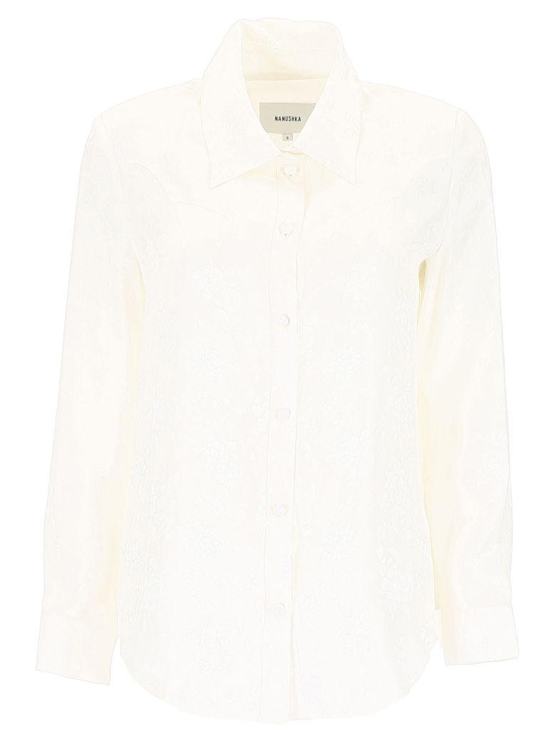 Nanushka Maddy Shirt - WHITE ROSE Bianco