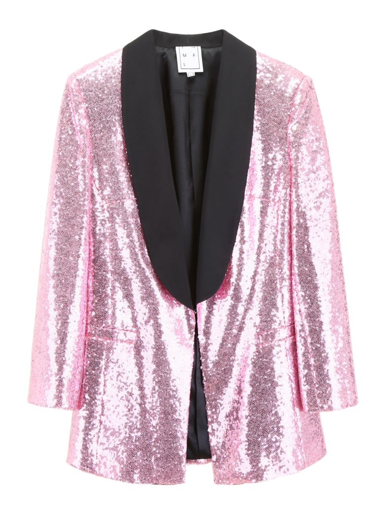 In The Mood For Love Tuxedo Jacket With Sequins - PINK BARBIE (Pink)