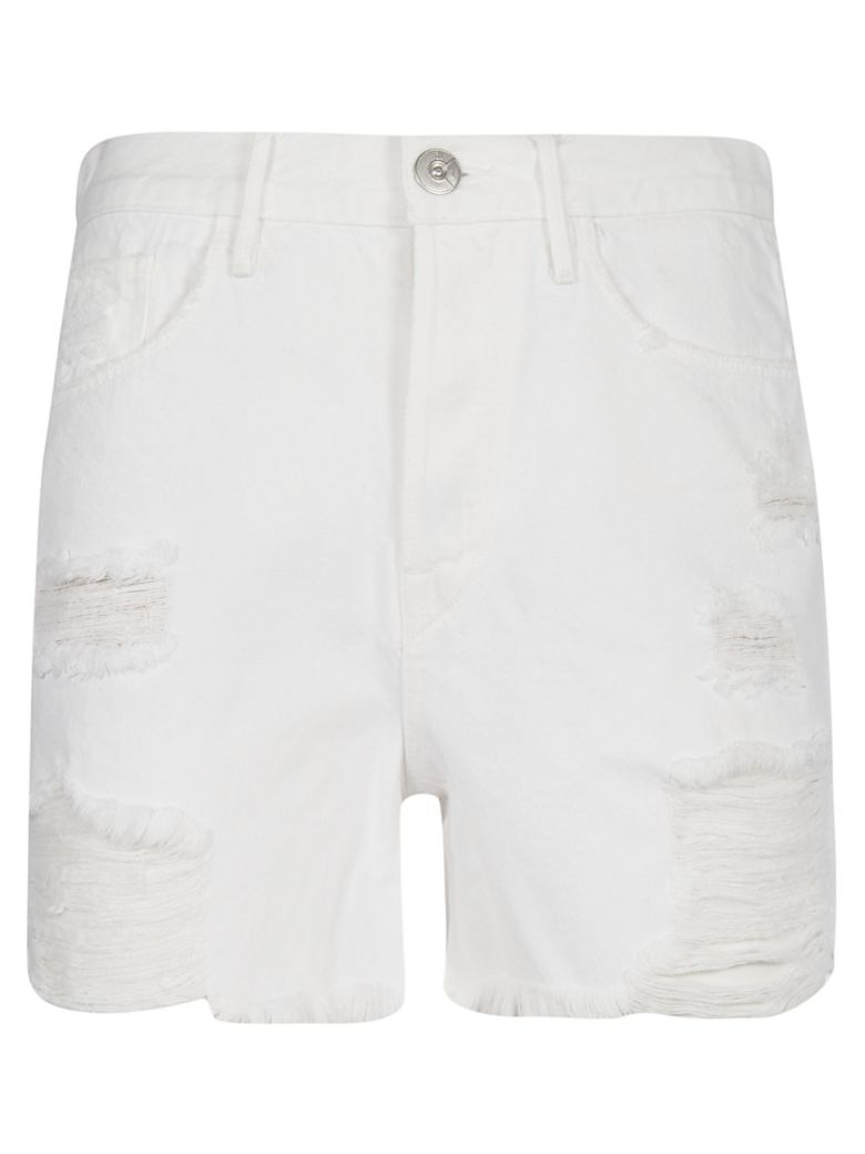 3x1 Distress Shorts - Moonstone