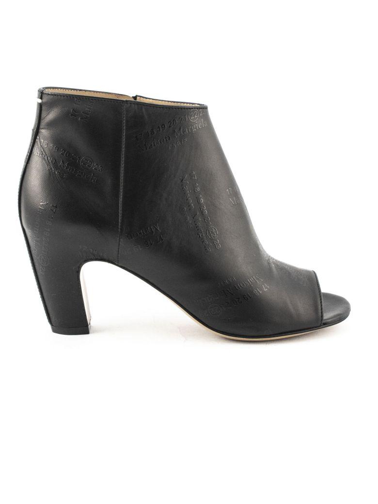 Maison Margiela Black Leather Ankle Boots - Nero