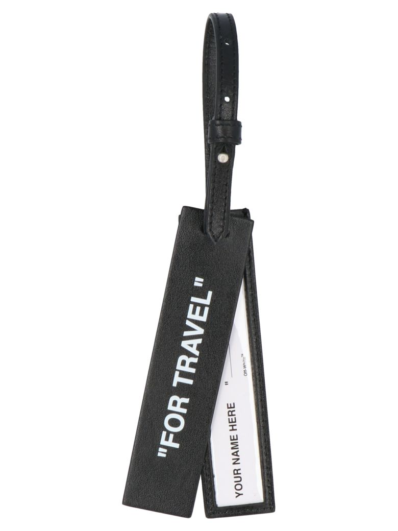 Off-White 'quote' Luggage Tag - Black