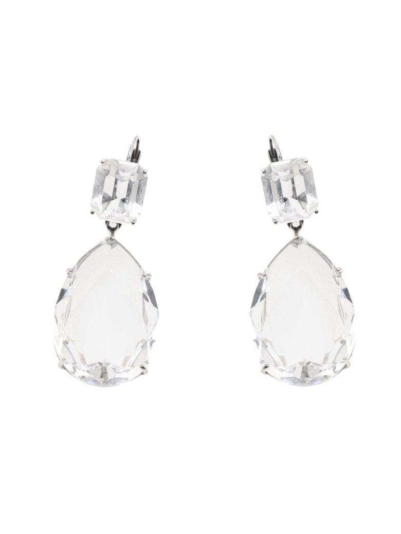 Alexander McQueen Droplet Earrings - CRYSTAL (Silver)