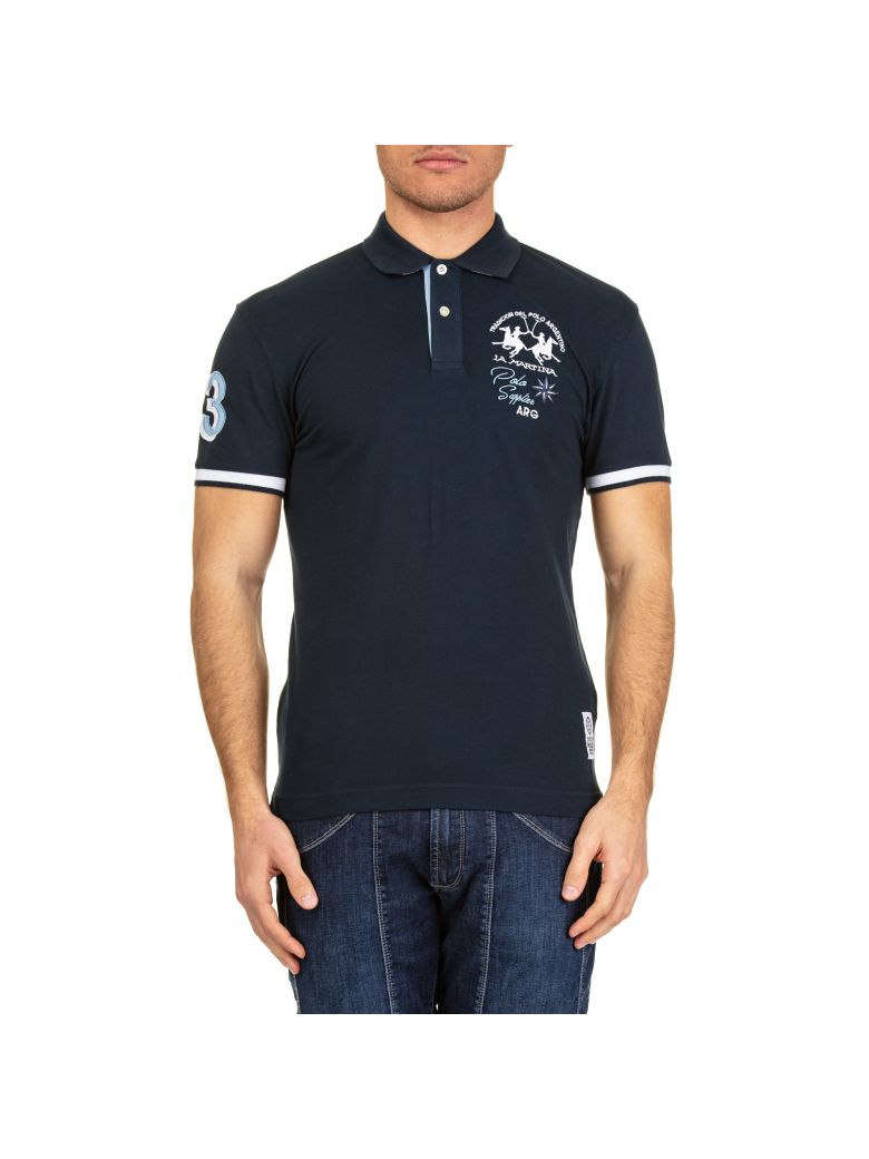 La Martina La Martina Cotton Piquè Polo Shirt - Blue