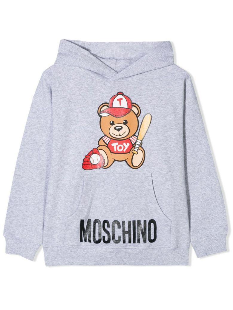 Moschino Light Grey Cotton Hoodie - Grigio