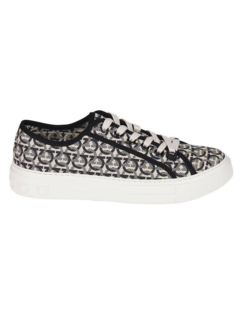 Salvatore Ferragamo Gancini Sneakers - Black/White
