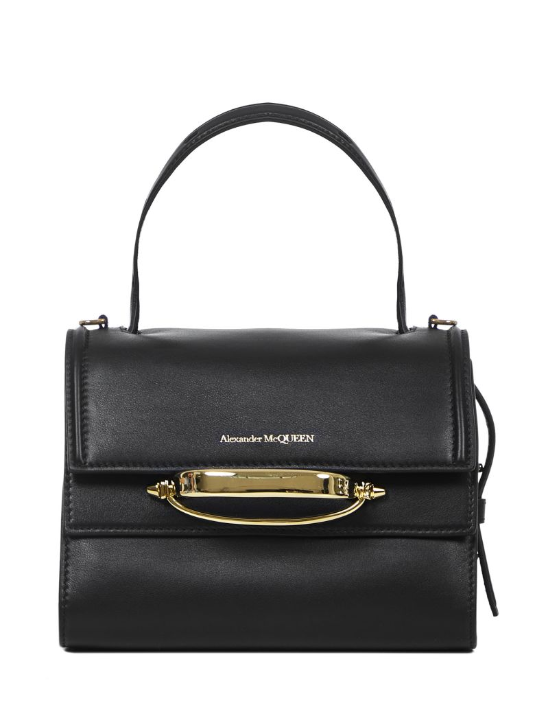 Alexander McQueen The Story Handbag - Black/red