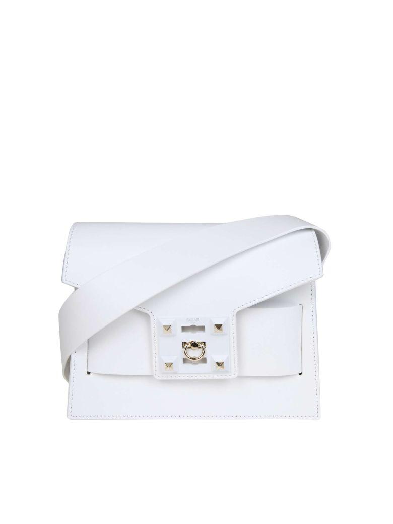 Salar Bag In Mila Shoulder In White Leather - White