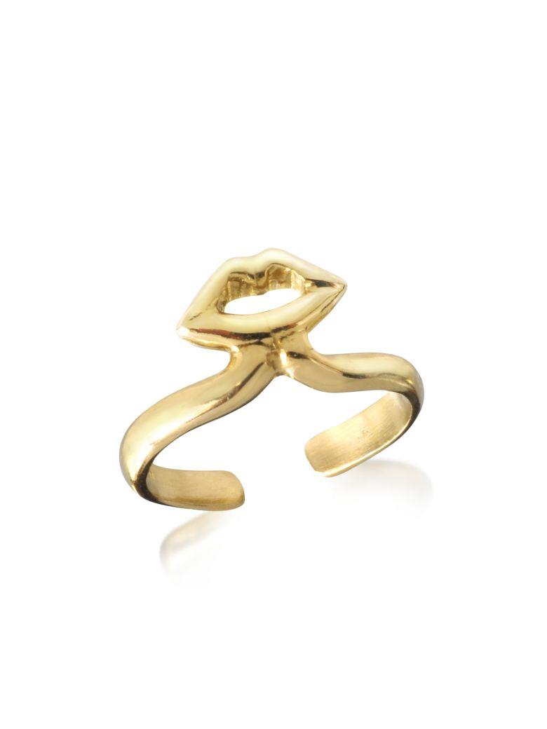 Bernard Delettrez Bronze Midi Ring W/mouth - Gold
