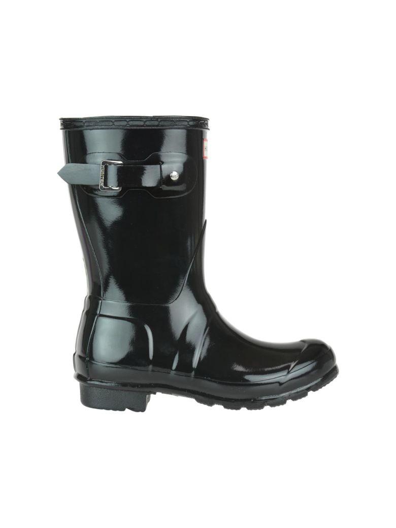 Hunter Original Short Gloss Boots - Black