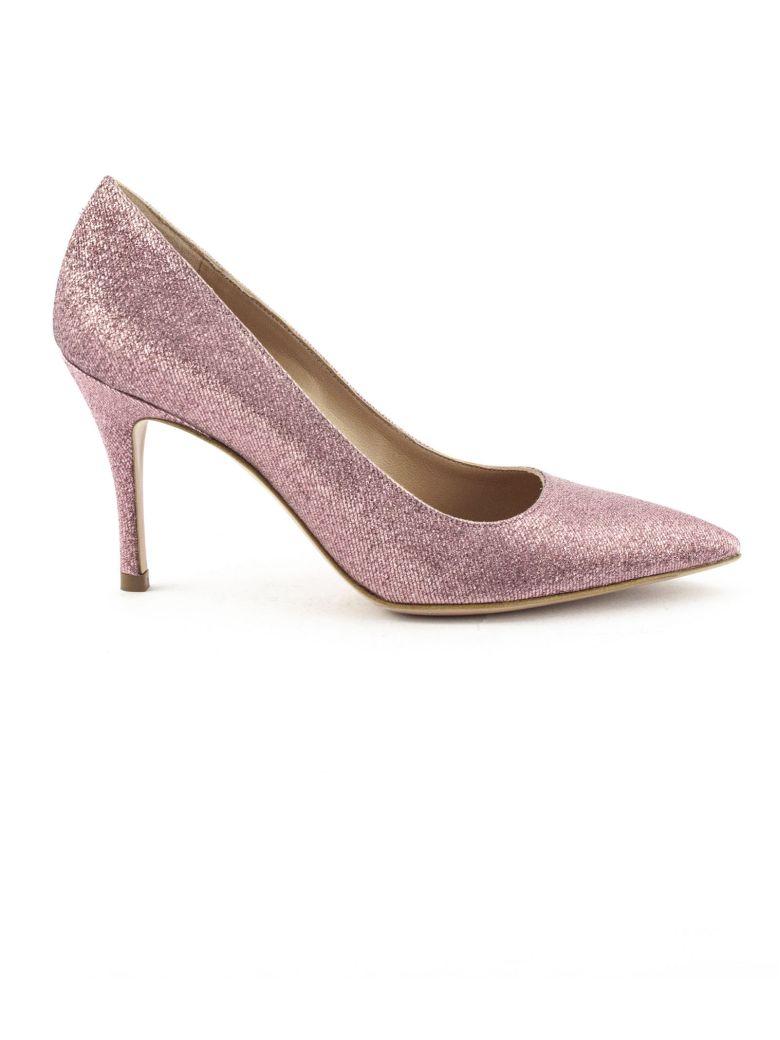 Roberto Festa Emma Pump In Pink Glitter - Rose