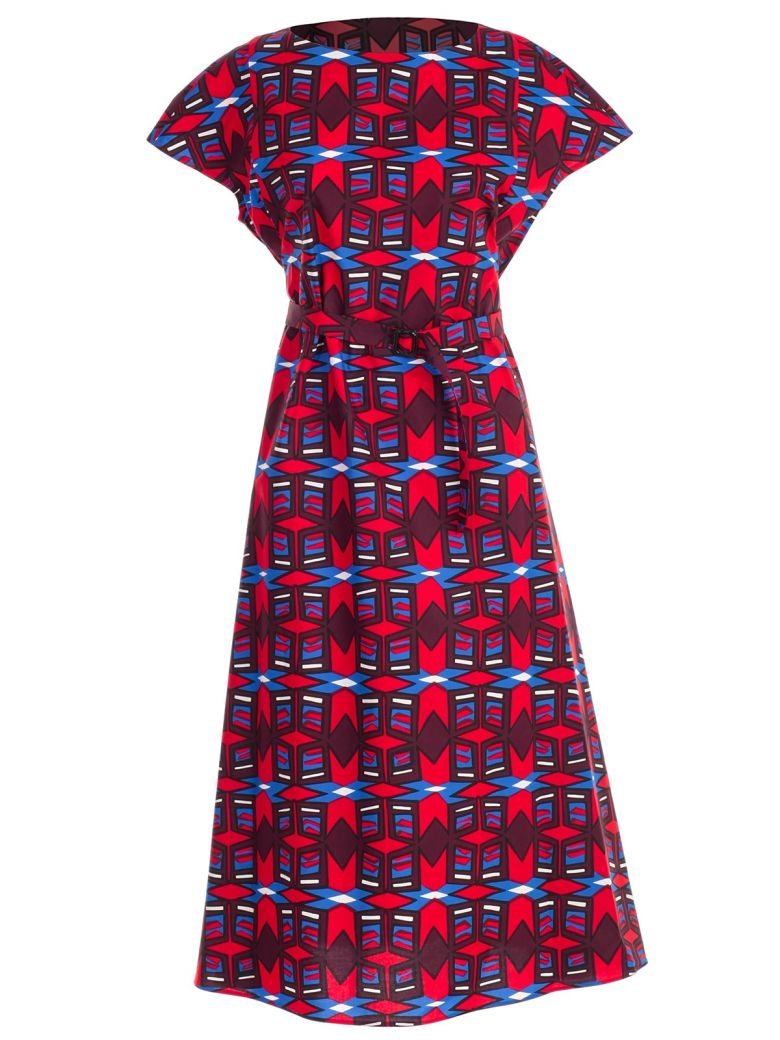 Aspesi Abstract Print Dress - Fdo Rosso