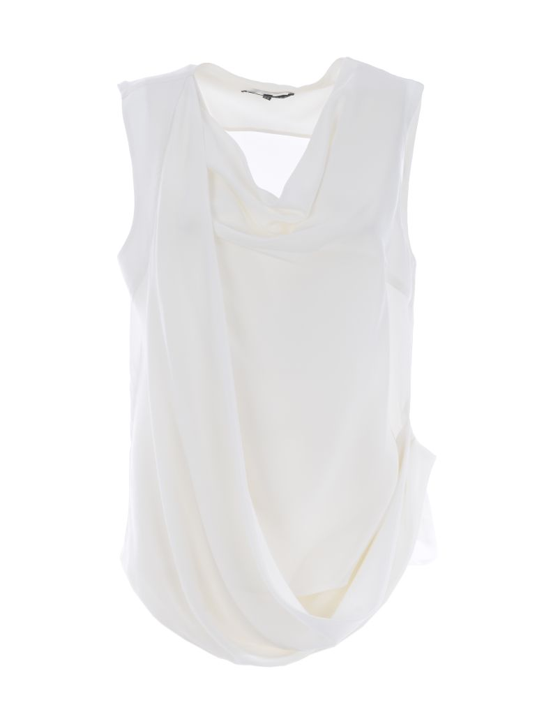 Brian Dales Draped Top - Bianco latte