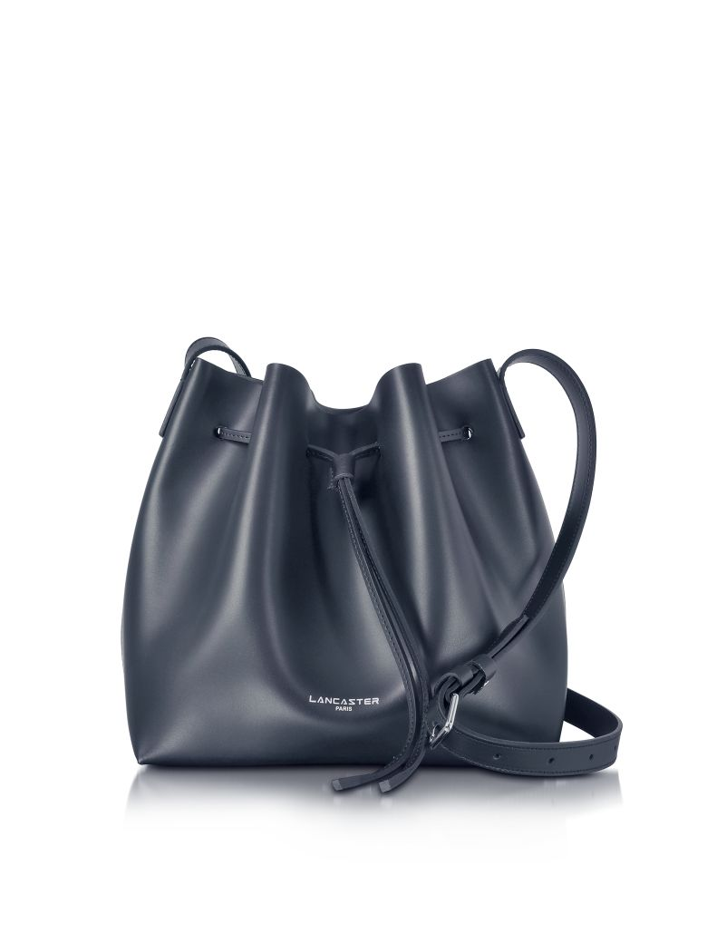 Lancaster Paris Pur Smooth Leather Bucket Bag - Blue
