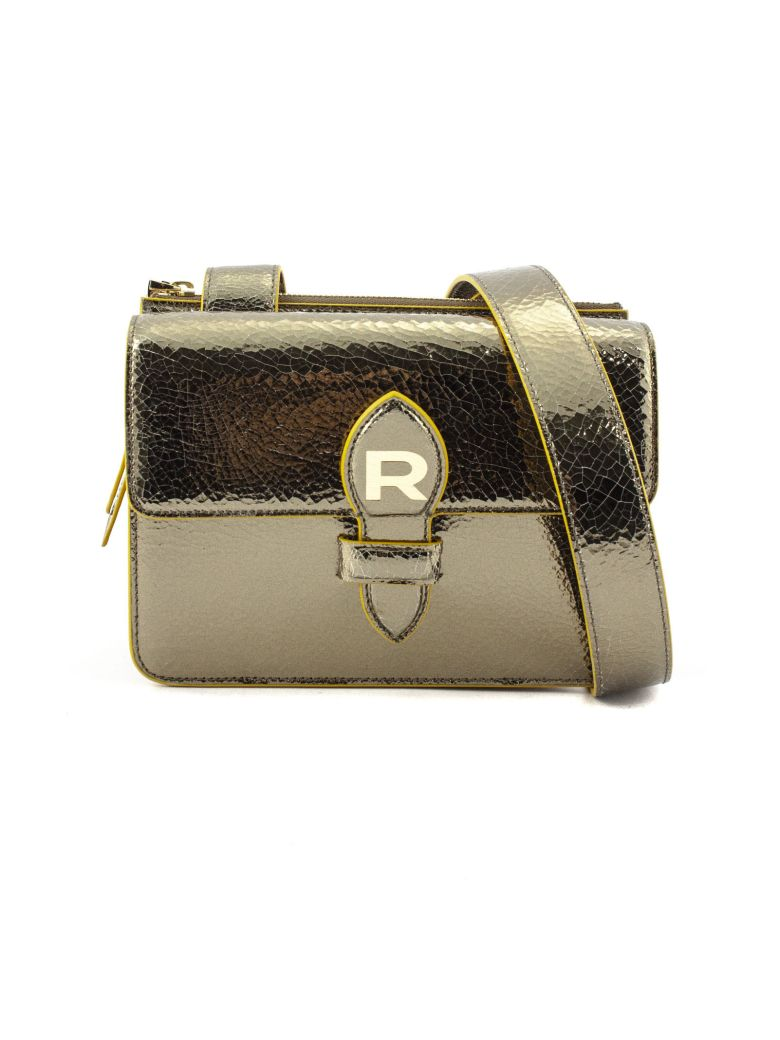 Rochas Gold-tone Mirror Leather Bag - Oro