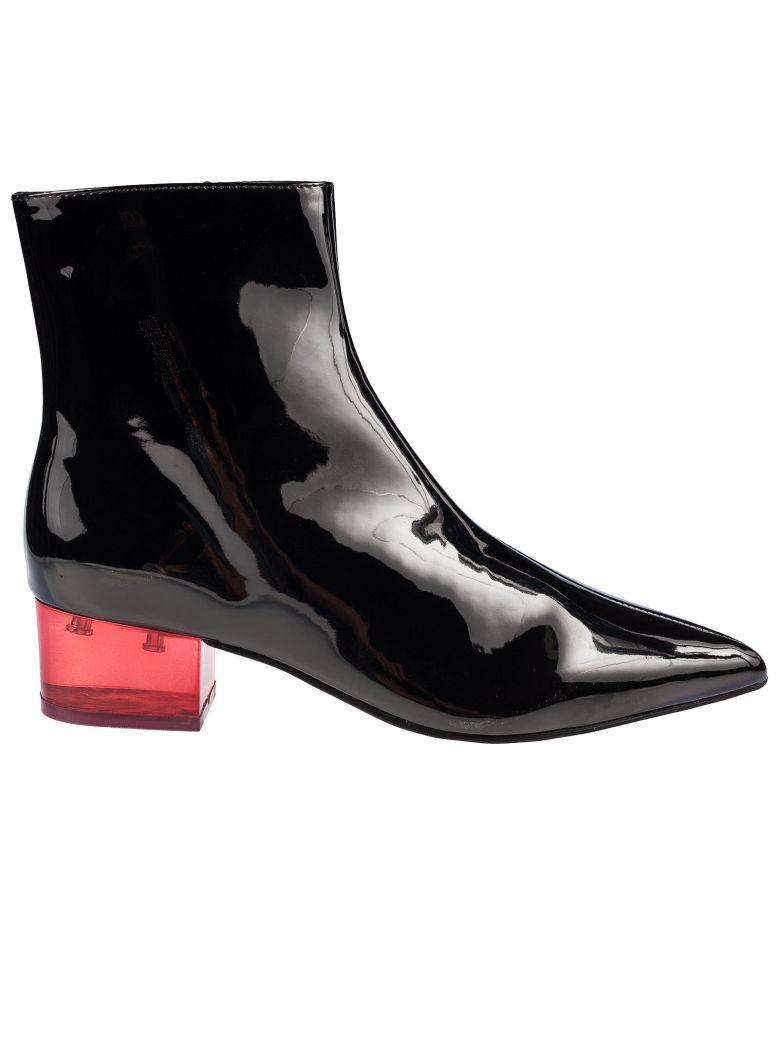 Jeffrey Campbell Luminous Statement Heel Bootie - Black/red