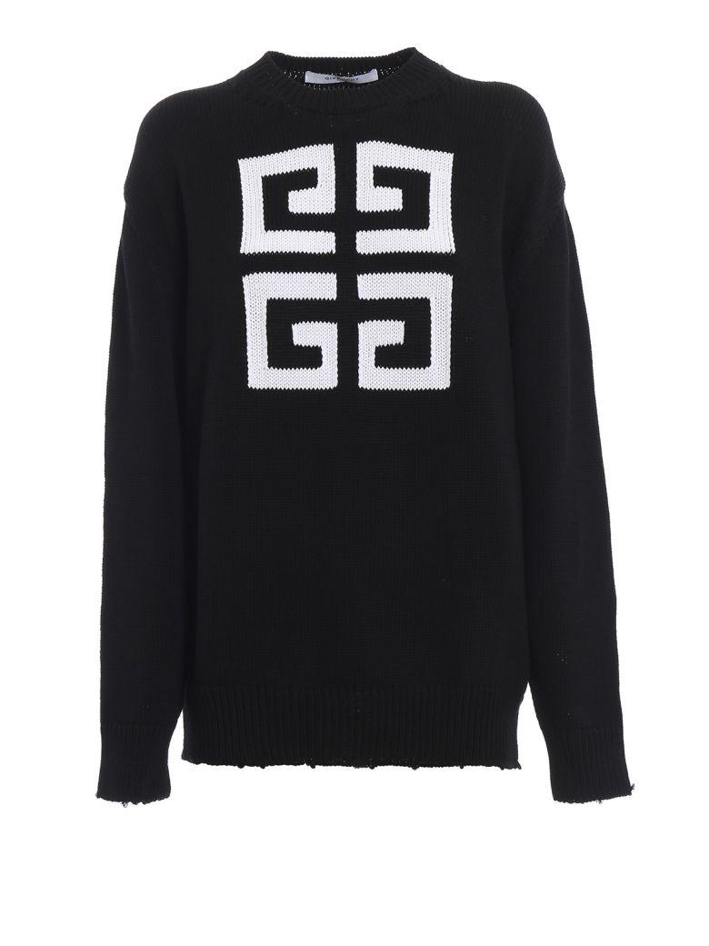 Givenchy Double G Knit Sweatshirt - Black/white