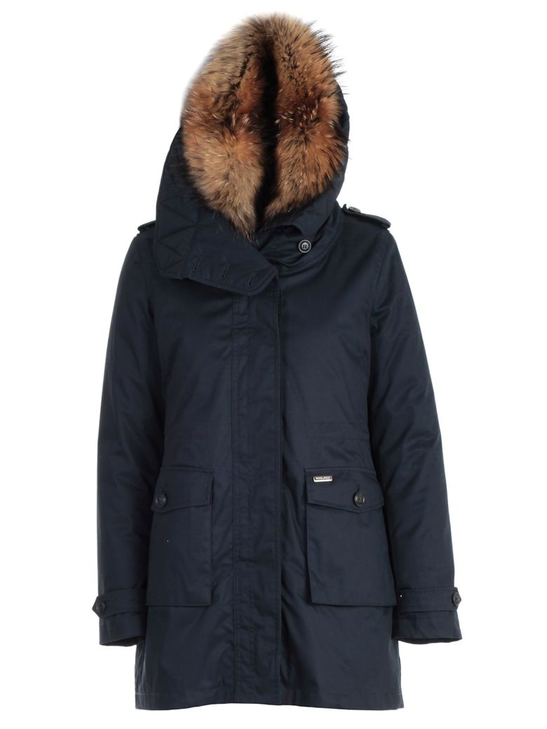 Woolrich Fur Trim Parka - Dark Navy
