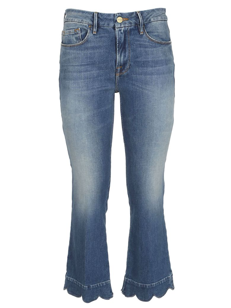 Frame Cropped Flared Jeans - Medio