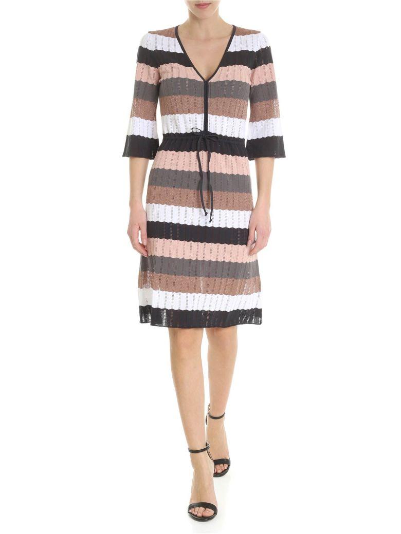 Kangra Multicolor Striped Dress - Rosa/nero