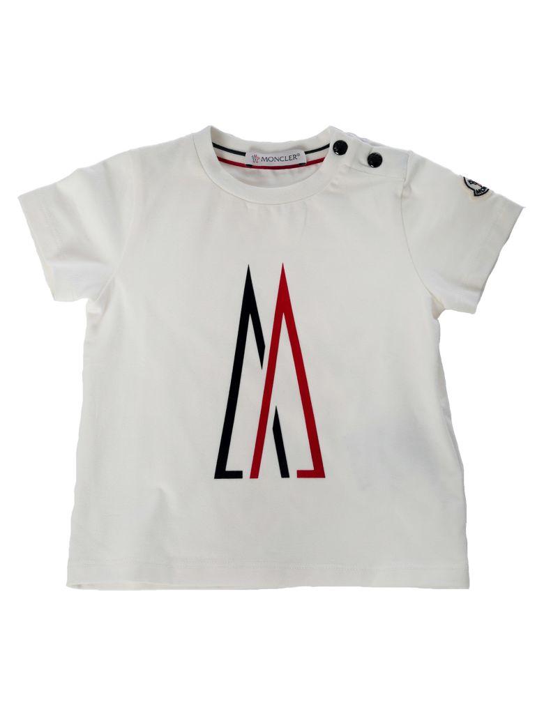 Moncler Kids Buttoned Detail Logo T-shirt
