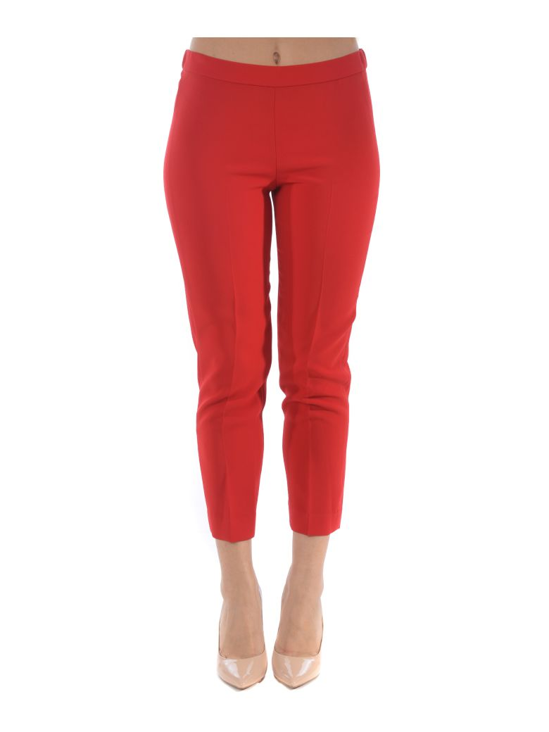 Theory Slim Fit Trousers - Rosso