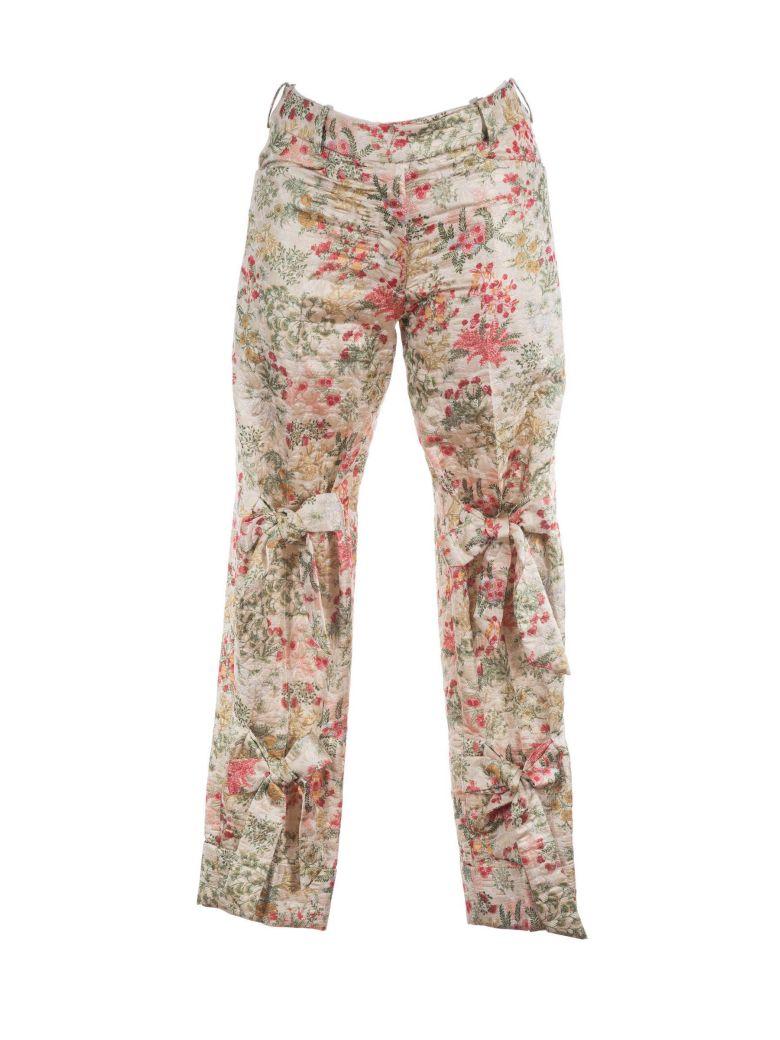 Simone Rocha Floral Brocade Trousers - Verde