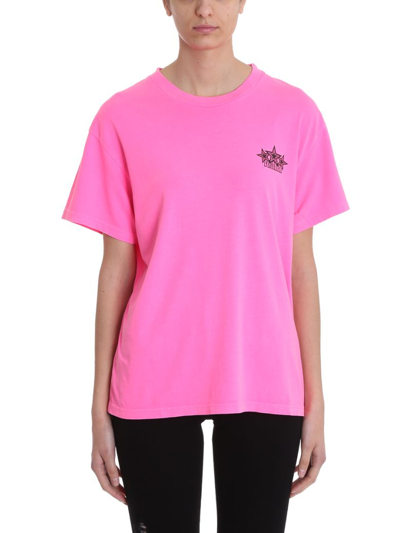 AMIRI Five Star Fucsia Tee - rose-pink