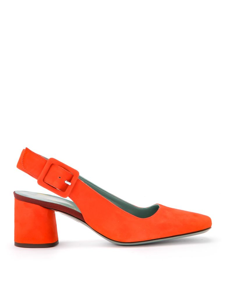 Paola D'Arcano Maddy Coral Suede Chanel - Orange