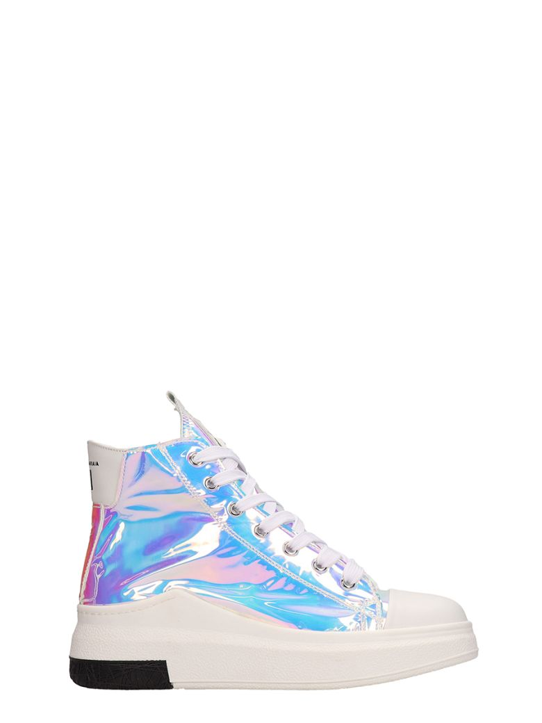 Cinzia Araia Opalescent Mesh Sneakers - silver