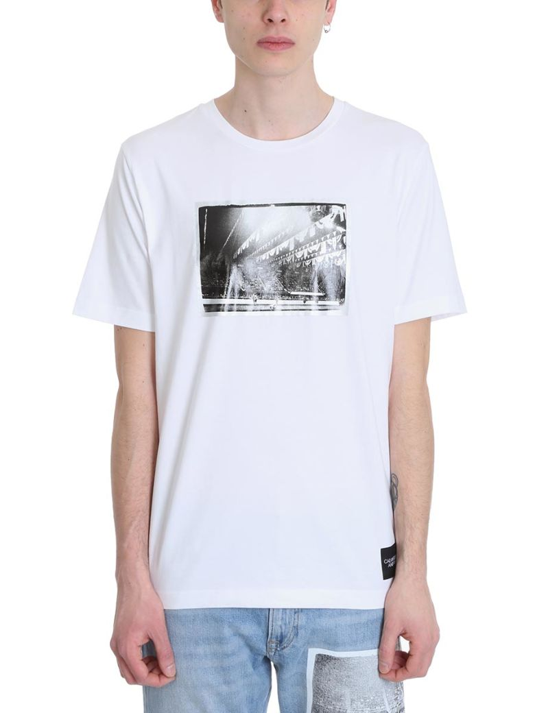 Calvin Klein Rodeo White Cotton T-shirt - White
